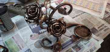 Каллы из металла своими руками